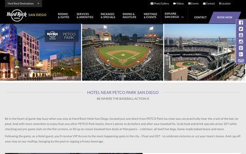 Hotel near Petco Park | HARD ROCK HOTEL SAN DIEGO downtown San Diego