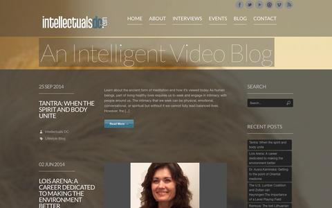 Screenshot of Blog intellectualsdc.com - Short exclusive interviews featuring intellectual people in Washington DC, United States. | Intellectuals DC - captured Jan. 9, 2016