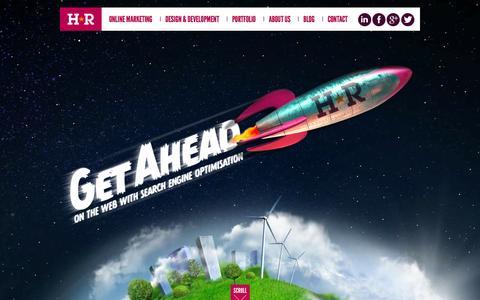 Screenshot of Home Page headred.net - Web Design Coventry - SEO, Branding & E-commerce | HeadRed Media - captured Sept. 22, 2014
