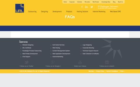 Screenshot of FAQ Page urlsoftware.com - FAQs - captured Oct. 4, 2014