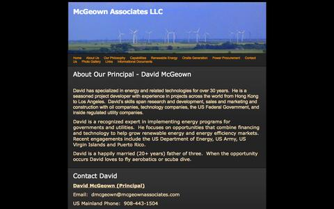 Screenshot of About Page webs.com - About Us - McGeown Associates LLC - captured Sept. 13, 2014