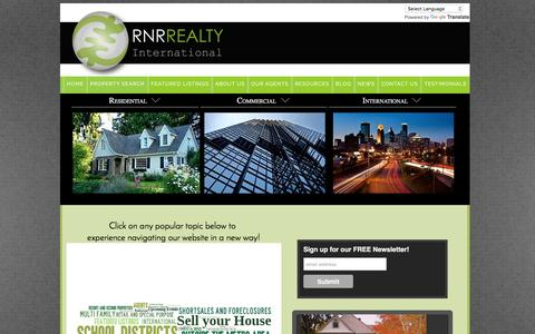 Screenshot of Home Page rnrrealty.com - RNR Realty International-Twin Cities, MN - captured Sept. 29, 2016