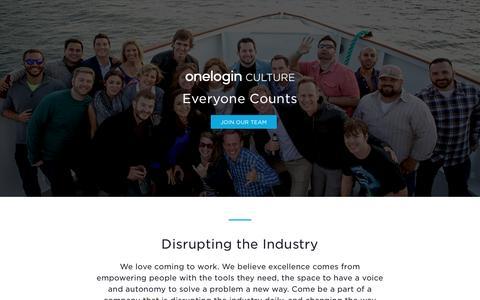 Culture | OneLogin