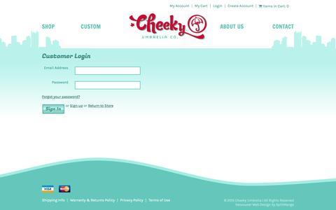 Screenshot of Login Page cheekyumbrella.com - Account | Cheeky Umbrella - captured Dec. 8, 2015