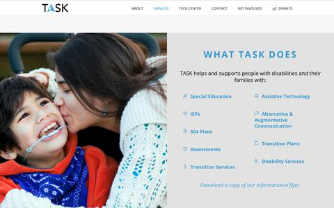 Screenshot of Services Page taskca.org - What TASK Does – TASK - captured Oct. 19, 2018