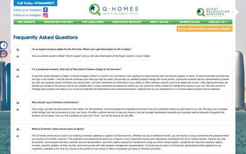 Screenshot of FAQ Page qhomes.com.qa - Qhomes: All you need to know about renting a property in Qatar - captured Dec. 13, 2018