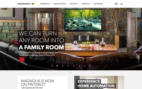 Screenshot of Home Page magnoliaav.com - Audio Video Design Centers | Magnolia Best Buy - captured Sept. 16, 2015