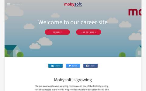 Screenshot of Jobs Page teamtailor.com - Mobysoft - captured Nov. 19, 2018