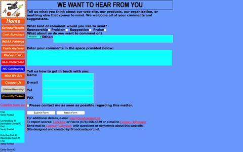 Screenshot of Contact Page broadcastsport.net - Broadcastsport.net - captured Nov. 23, 2016
