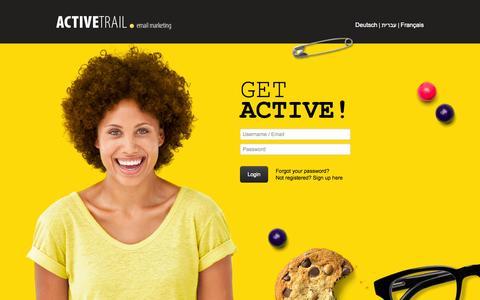 Screenshot of Login Page activetrail.com - Customer Login | ActiveTrail - captured Oct. 29, 2014