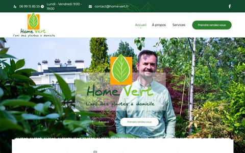 Screenshot of Home Page home-vert.fr - Accueil - Homevert - captured Oct. 28, 2018
