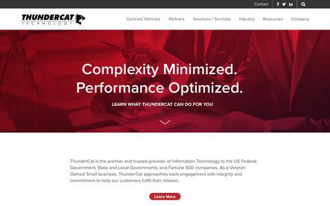 Screenshot of Home Page thundercattech.com - Thundercat Technology - captured Nov. 8, 2018