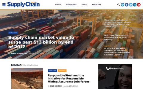 Screenshot of Home Page supplychaindigital.com - Home | Supply Chain Digital - captured June 27, 2017