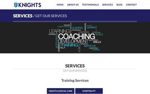 Screenshot of Services Page knights-agency.com - Services | Knights Agency - captured Sept. 30, 2014