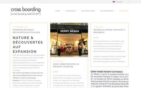 Screenshot of Blog cross-boarding.com - Cross Boarding | Cross boarding : Conseiller immobilier et retail France Allemagne - captured Dec. 6, 2015