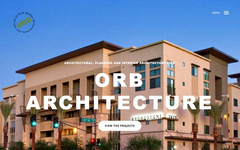 Screenshot of Home Page orbarch.com - ORB Architecture | an Architectural, Planning and Interior Architecture firm - captured Aug. 12, 2015