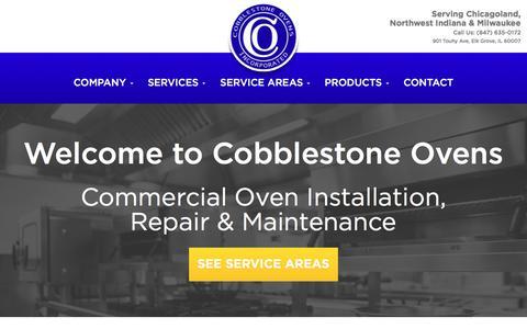 Screenshot of Home Page cobblestoneovens.com - Commercial Ovens, Oven Installation, Maintenance and Repair - Cobblestone Ovens, Inc. - captured Nov. 8, 2016