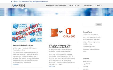 Screenshot of Blog avaren.com - Blog | AVAREN IT - captured Oct. 2, 2018