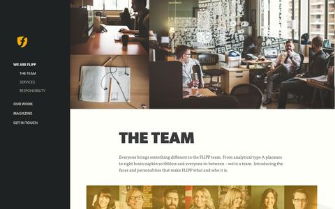 Screenshot of Team Page flipp.ca - The Team at FLIPP Advertising - captured Sept. 23, 2014