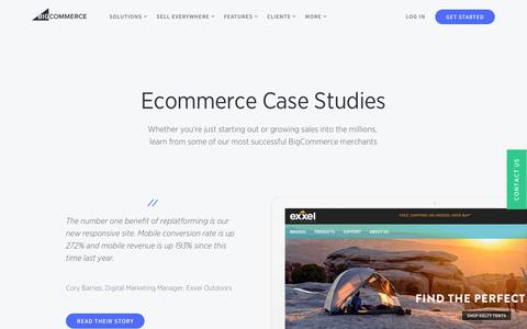 Screenshot of Case Studies Page bigcommerce.com - Ecommerce Case Studies (Showing Huge Growth) | BigCommerce - captured Jan. 13, 2019