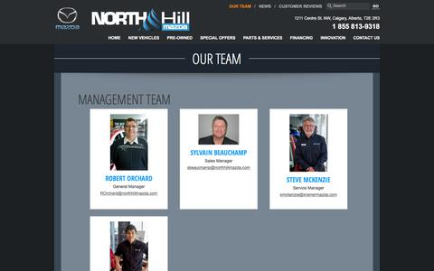 Screenshot of Team Page northhillmazda.com - Meet our team | North Hill Mazda in Calgary, Alberta - captured Dec. 3, 2016