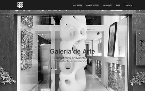 Screenshot of Home Page nocolor.es - Diseño Gráfico, Diseño Web, Galería de arte en Donosti - captured Feb. 15, 2016