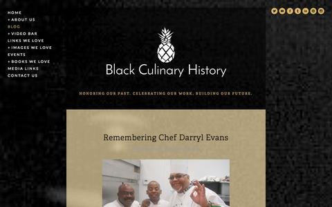 Screenshot of Blog blackculinaryhistory.com - Blog — Black Culinary History - captured Sept. 30, 2014