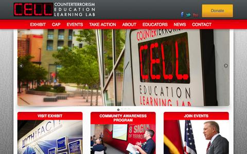 Screenshot of Home Page thecell.org - Home - Counterterrorism Education Learning Lab   CELLCounterterrorism Education Learning Lab   CELL - captured Oct. 3, 2014