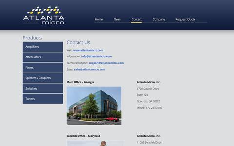 Screenshot of Contact Page atlantamicro.com - Contact Us - Atlanta Micro - captured Oct. 19, 2018