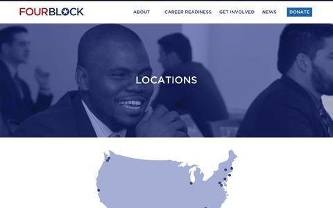 Screenshot of Locations Page fourblock.org - Locations   FourBlock Veteran Career Readiness - captured Nov. 25, 2016