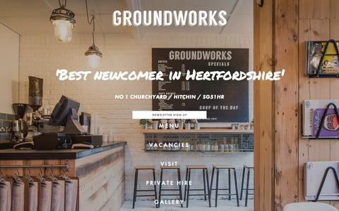 Screenshot of Home Page thegroundworks.co.uk - THE GROUNDWORKS - captured Nov. 3, 2015
