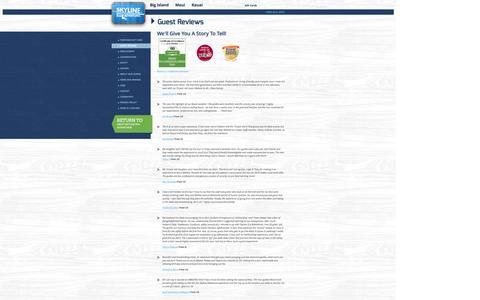 Screenshot of Testimonials Page zipline.com - Guest Reviews - Zipline.com - captured Oct. 1, 2014
