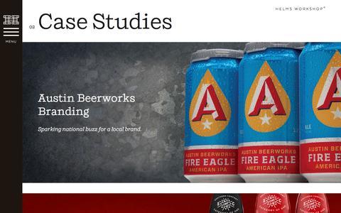 Screenshot of Case Studies Page helmsworkshop.com - Case Studies | Helms Workshop - captured May 18, 2017