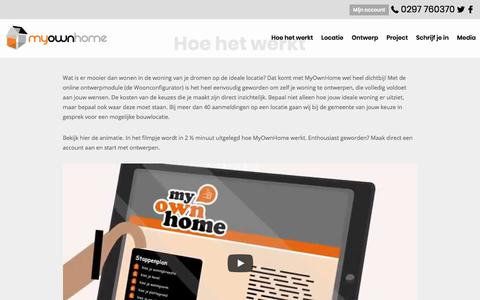 Screenshot of Home Page myownhome.nl - MyOwnHome - captured Nov. 10, 2017