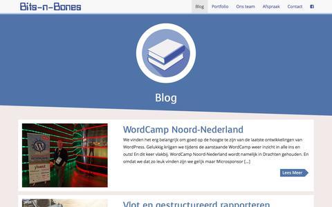 Screenshot of Blog bits-n-bones.nl - Blog - captured July 9, 2018