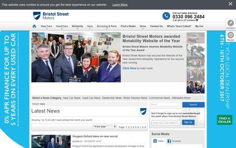 Screenshot of Press Page bristolstreet.co.uk - Latest News | Bristol Street Motors - captured Oct. 11, 2017