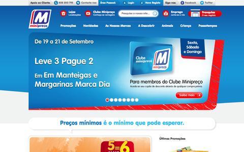 Screenshot of Home Page minipreco.pt - Minipreço | Superpoder de compra - captured Sept. 23, 2014