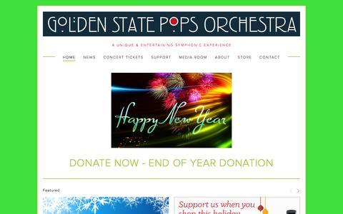 Screenshot of Home Page gspo.com - Golden State Pops Orchestra - captured Jan. 31, 2016