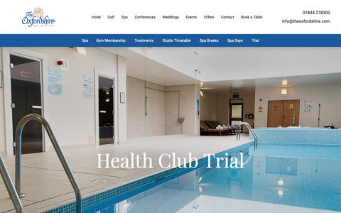Screenshot of Trial Page theoxfordshire.com - Tempus Fitness Centre Trial - captured Oct. 20, 2018