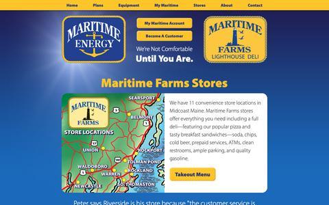 Screenshot of Locations Page maritimeenergy.com - Maritime Farms | Maine Convenience Store Locations - captured Nov. 6, 2018