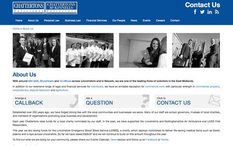 Screenshot of About Page chattertons.com - Lincolnshire Law Firm | Chattertons Solicitors - captured Sept. 19, 2014