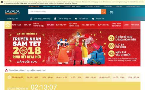 Screenshot of lazada.vn - Lễ hội mua sắm Tết Nguyên Đán - Mua Lễ hội mua sắm Tết Nguyên Đán ở giá tốt nhất Vietnam | www.lazada.vn - captured Jan. 24, 2018