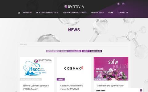 Screenshot of Press Page syntivia.fr - News - Syntivia - captured Sept. 21, 2018