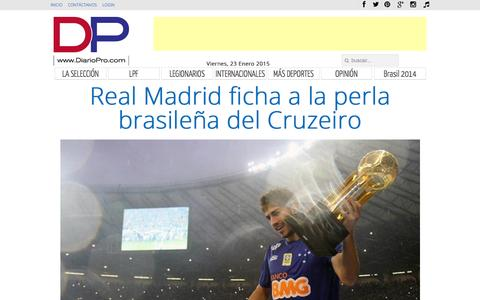 Screenshot of Home Page diariopro.com - DiarioPro.com - DiarioPro.com - captured Jan. 24, 2015