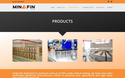 Screenshot of Products Page minafin.com - Products - Minafin Group - captured Sept. 21, 2017