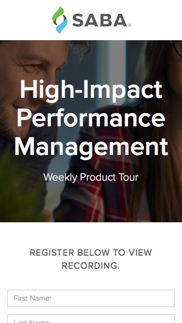 Product Tour - High-Impact Performance Management