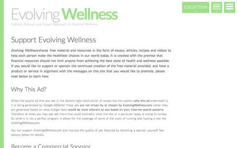 Screenshot of Support Page evolvingwellness.com - Support Evolving Wellness - captured Oct. 31, 2014