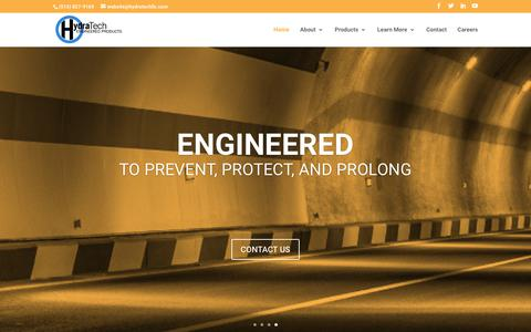 Screenshot of Home Page hydratechllc.com - HydraTech Engineered Products - captured Sept. 30, 2018