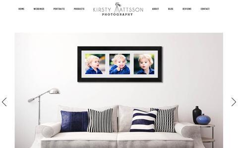 Screenshot of Products Page kmattssonphotography.com - Wall Art - Yorkshire Wedding Photographer Kirsty Mattsson - captured June 24, 2016