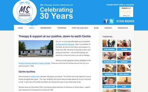 Screenshot of About Page omstc.org - About - Oxfordshire MS Therapy Centre - captured Oct. 7, 2014